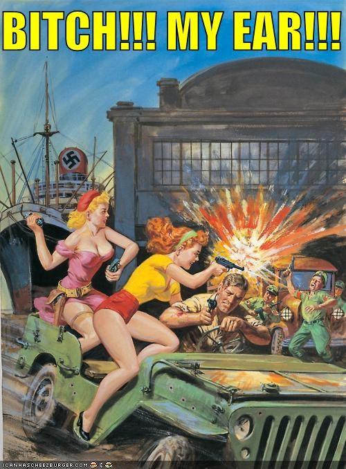 art color funny illustration nazi war women - 5081715456
