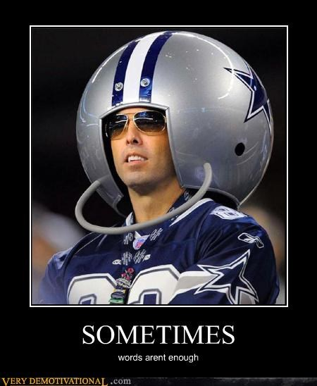 Dallas FAIL helmet idiots words
