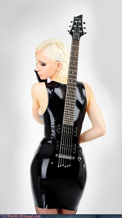 bass,guitar,leather