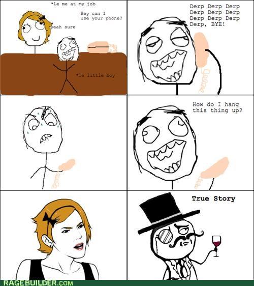 annoying kids phone Rage Comics true story - 5081946368