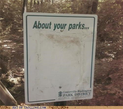 blank IRL park sign - 5082142720