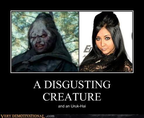 A DISGUSTING CREATURE and an Uruk-Hai
