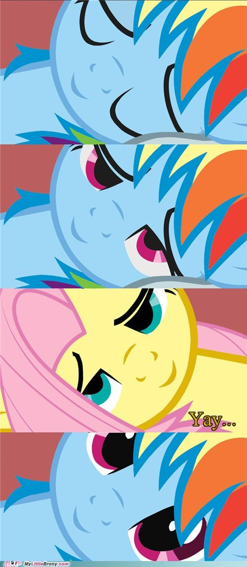 best of week cute fluttershy ponies rainbow dash sleeping too loud yay - 5082267136