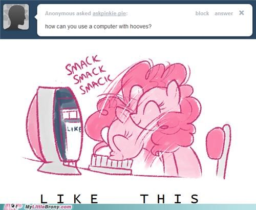computer head pinkie pie smakc tumblr - 5082295040