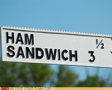 confusing ham numbers sandwich sign - 5082519296