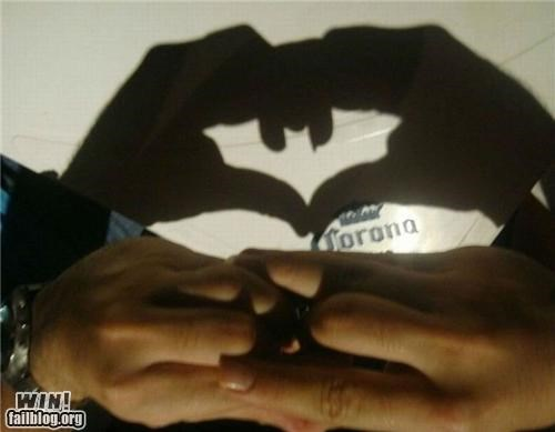 batman,hands,I AM THE NIGHT,shadow,shadow puppet