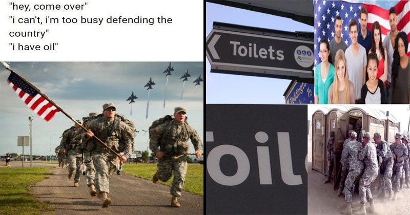 funny meme about americans and oil.