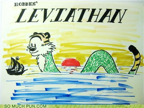 calvin and hobbes hobbes leviathan literalism survival of the fittest Thomas Hobbes - 5082785024