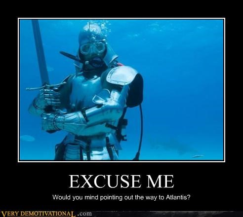 atlantis,hilarious,knight,scuba diver