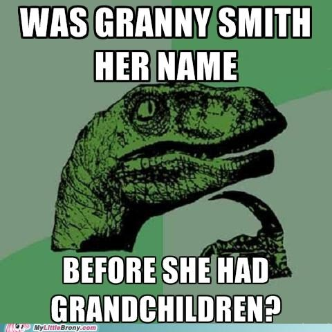 grandma granny smith kids philosoraptor - 5083208192