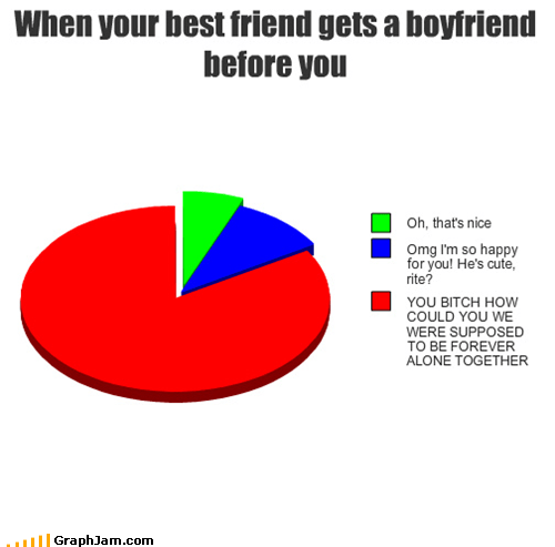 Awkward best friend boyfriend Pie Chart