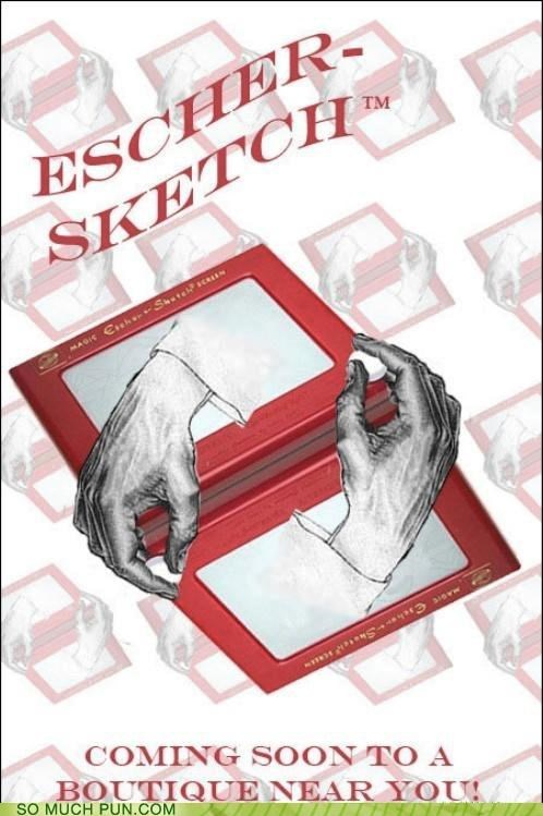 Etch A Sketch Hall of Fame juxtaposition literalism m-c-escher - 5083643904