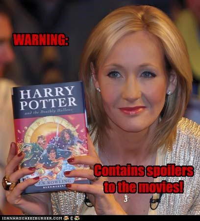 authors books Harry Potter j-k-rowling movies roflrazzi sci fi spoilers writers