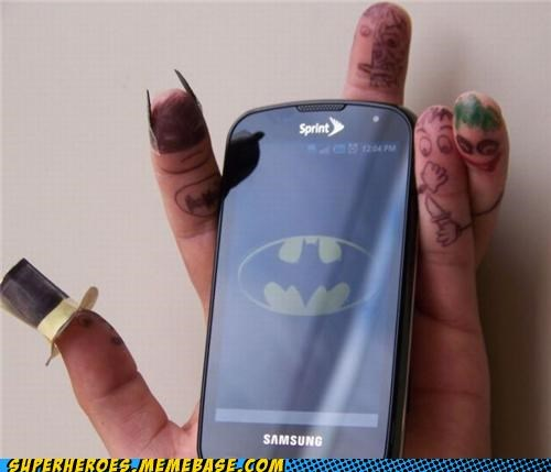 awesome batman fingers phone Random Heroics - 5083883264