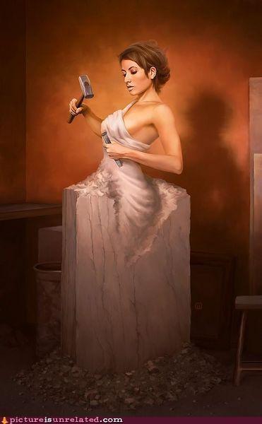art chisel impossible sculpture wtf - 5083905280
