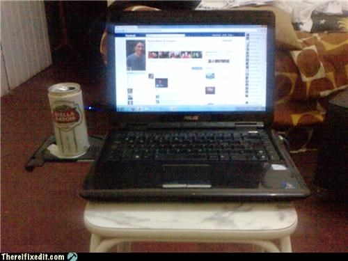 alcohol beer computer cup holder dual use - 5084246016