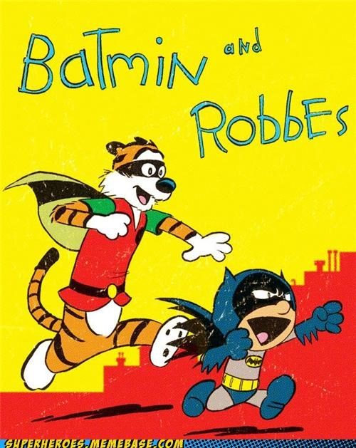 amazing Awesome Art batman best of week calvin-hobbes robin
