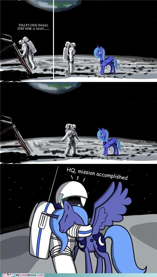 hq landing moon neil armstrong princess luna space - 5085406208