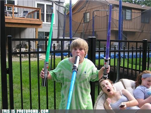 back yard Kids are Creepers Too light saber padawan star wars