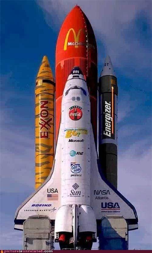 advertising McDonald's space shuttle wtf - 5087564800