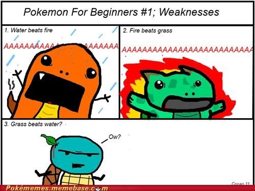 comic squirtle starter type weakness - 5087718144