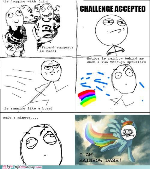 comics,me gusta,rage comic,rainbow dash,run,sprinkler
