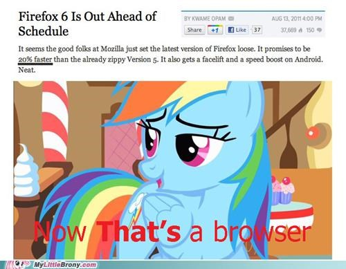 browser faster firefox mozilla rainbow dash speed - 5088752384