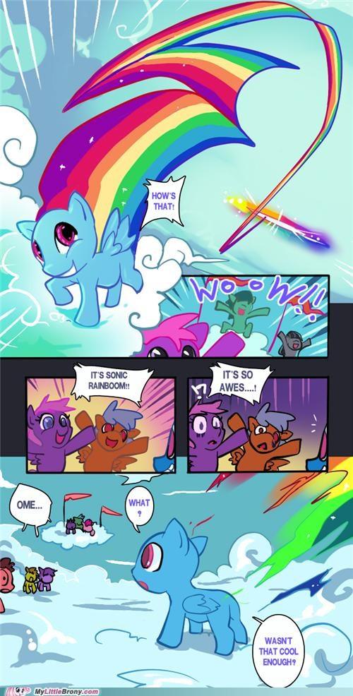 bald comics hair rainboom rainbow dash