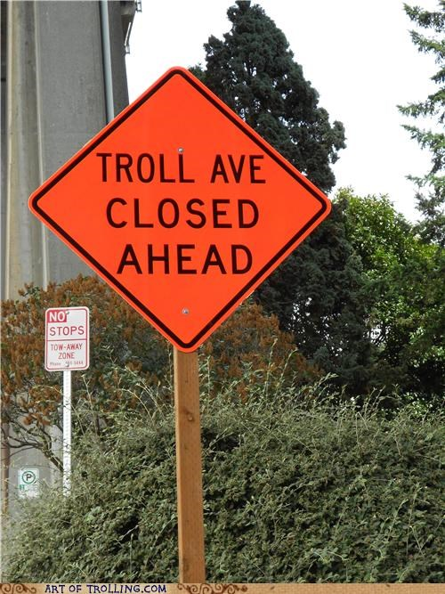 closed IRL sign troll ave you wish - 5089379584