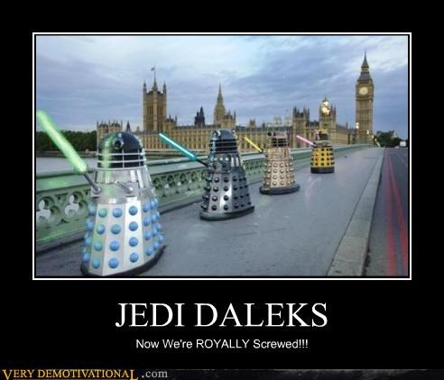 dalek doctor who hilarious Jedi TV wtf - 5089652992
