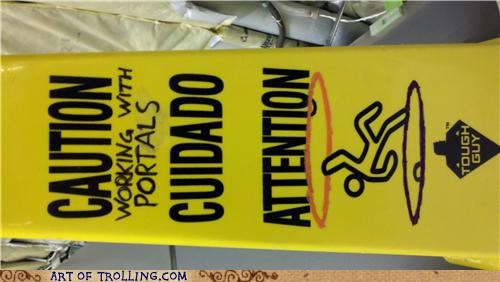 caution IRL Portal valve video games - 5090010880