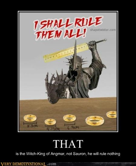 hilarious Lord of the Rings rule sauron witch-king