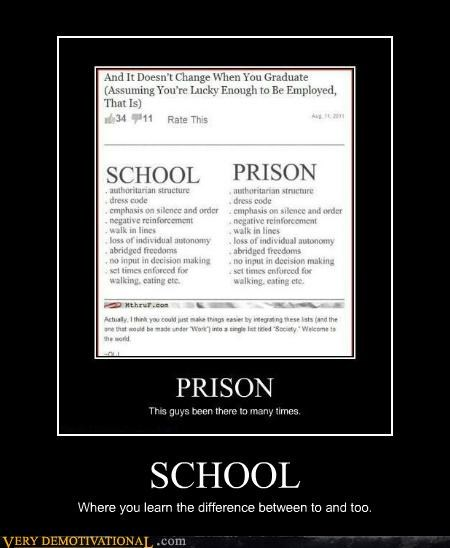 grammar nazi,hilarious,learn,prison,school