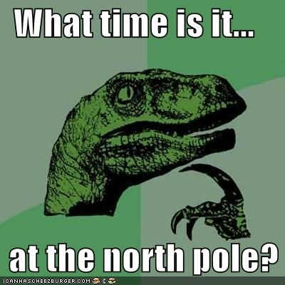 north pole philosoraptor santa time