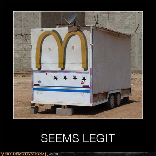 hilarious McDonald's seems legit wtf - 5090848000