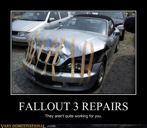 bmw,car,fallout 3,Pure Awesome,repairs