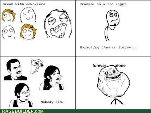 Awkward,forever alone,Rage Comics,work