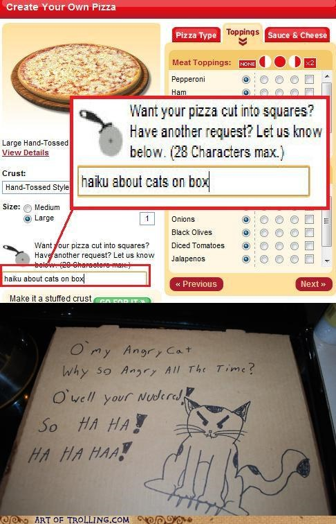 awesome Cats haiku noms pizza - 5091144704