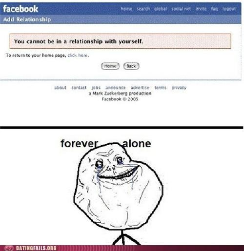 facebook,forever alone,relationship status,We Are Dating