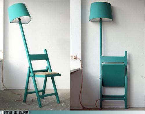 chair folding furniture lamp