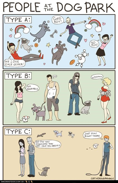 cartoons cat vs human comic dog park - 5091399168