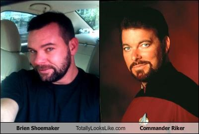 commander riker,Jonathan Frakes,Riker,some random guy,Star Trek,Star trek the next generation,television show,TNG