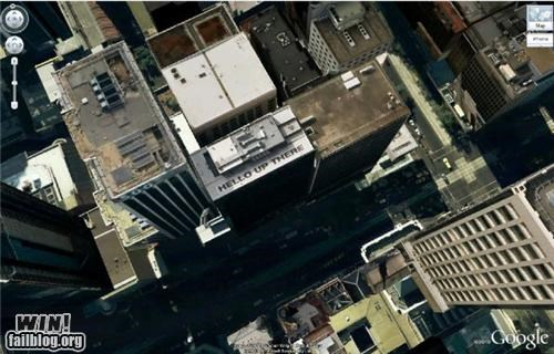 Brother Nature FTW building city google maps hello hidden message high rise satellite image - 5091561472