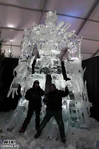 ice,nerdgasm,optimus prime,sculpture,transformers