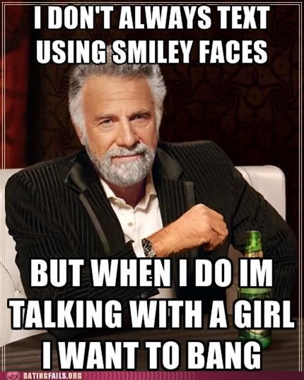 dos equis emoticon Hall of Fame most interesting man smiley face texting - 5091675904