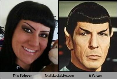 bad makeup eyebrows Leonard Nimoy Spock stripper Vulcan