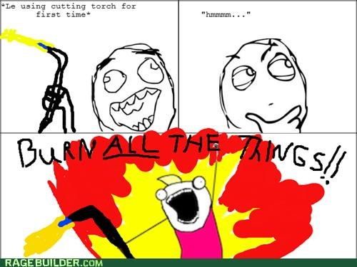 all the guy,all the things,cutting torch,Rage Comics,shop class