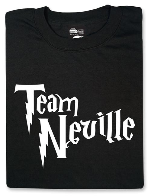 books Harry Potter merch movies neville longbottom team neville ThinkGeek t shirts - 5091925504