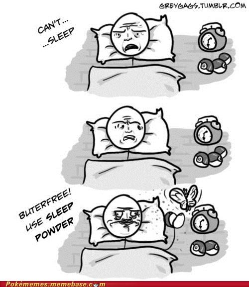 bed Butterfree insomnia me gusta Rage Comics sleep - 5091933952