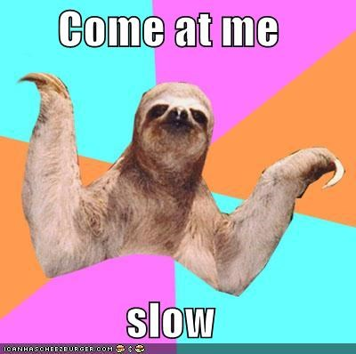 come at me cool story bro Memes sloth slow - 5091937280